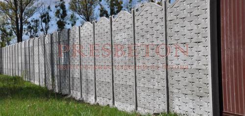 Забор под ключ на 5 плит плетень с ковкой
