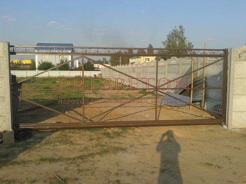 Ворота откатные Индастри Арт