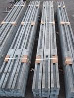 Установка забора на 4 плиты (усиленные столбы)