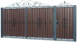 Ворота распашные с ковкой м1