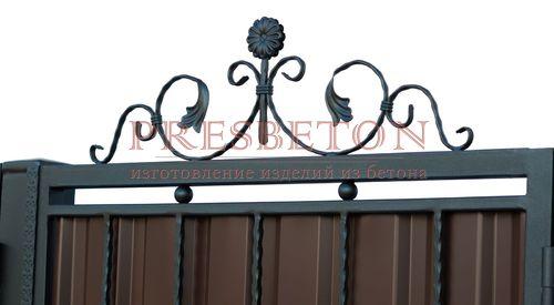 Ворота распашные с ковкой м8