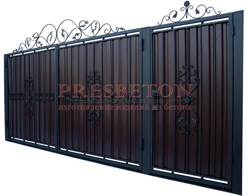 Ворота распашные с ковкой м2