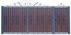 Ворота распашные с ковкой м3