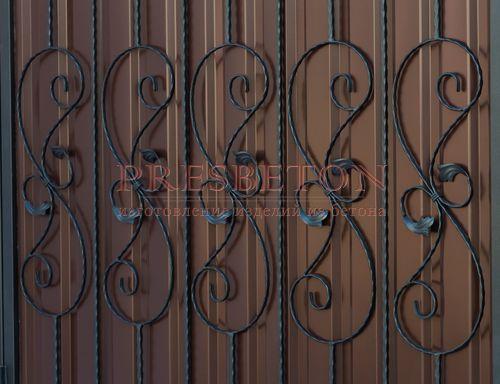 Ворота распашные с ковкой м4