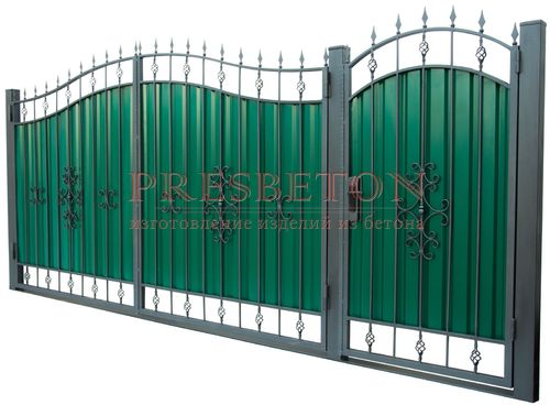Ворота кованые гнутые мг1