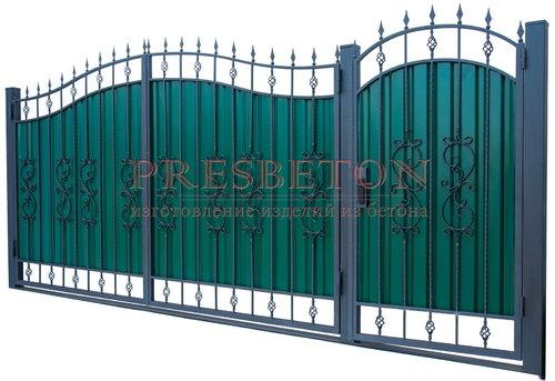 Ворота кованые гнутые мг3