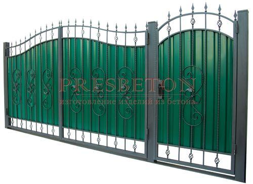Ворота кованые гнутые мг4