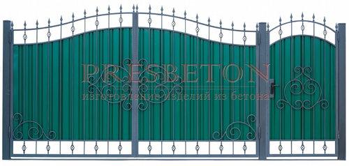 Ворота кованые гнутые мг6