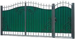 Ворота кованые гнутые мг7