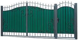 Ворота кованые гнутые мг8