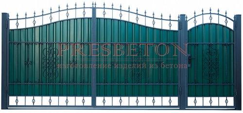 Ворота кованые гнутые мг9