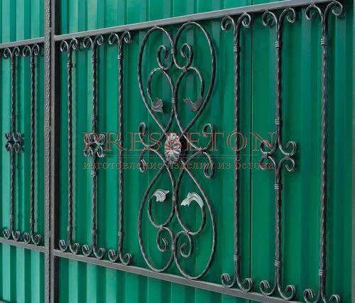 Ворота кованые гнутые мг12
