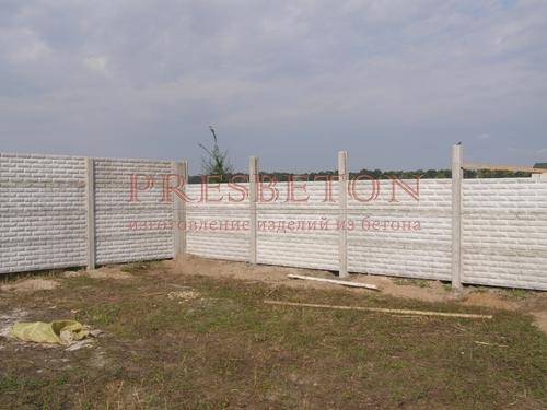Забор под ключ на 4 плиты глухой фагот