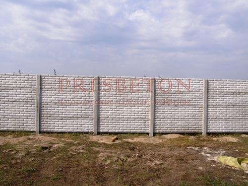Забор под ключ на 5 плит глухой фагот
