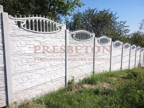 Забор под ключ на 4 плиты сланец с верхушкой